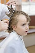 Kid At Barbershop