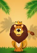 funny Lion With Crown
