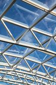 White Steel And Glass Atrium Roof
