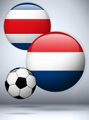 Netherlands Versus Costa Rica Flag Soccer Game