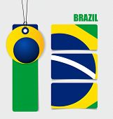 Brazil , Flags concept design. Vector illustration.