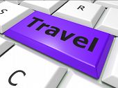 Online Travel Represents World Wide Web And Expedition