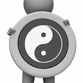 Yin Yang Means Ying Tao And Display