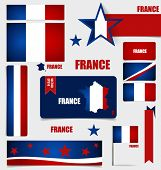 Collection of France Flags, Flags concept design. Vector illustration.