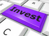 Invest Online Represents World Wide Web And Invests