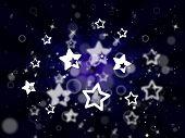 Stars Background Represents Light Burst And Glare