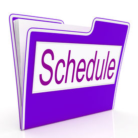 stock photo of lineup  - Schedule File Representing Paperwork Lineup And Organized - JPG