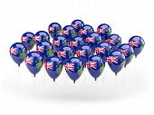 Balloons With Flag Of Pitcairn Islands