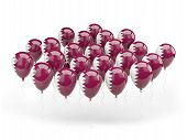 Balloons With Flag Of Qatar
