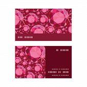 Vector ruby horizontal stripe frame pattern business cards set