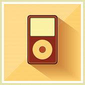 Music Media MP3 Player on the Retro Vintage Background vector