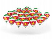 Balloons With Flag Of Suriname
