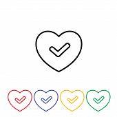 Green good heart icon