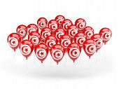 Balloons With Flag Of Tunisia