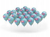 Balloons With Flag Of Tuvalu