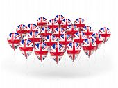 Balloons With Flag Of United Kingdom