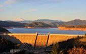 Shasta Lake Dam at Sunset - Northern California