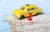 Ourense  ,spain Map Taxi