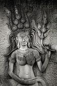 Sculpture of Apsara dancer