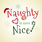 image of titillation  - naughty nice  playful message - JPG