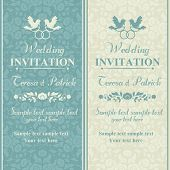 pic of ring-dove  - Antique baroque wedding invitation - JPG