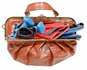 Ladies Bag With Boxing Gloves And Dumbbells