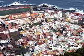 Panoramic view of Garachico town in Tenerife, Canary island