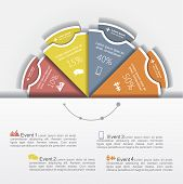 Modern business Infographics circle layout. Vector