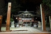 Zen Temple At Night, Kinosaki, Japan