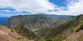 La Gomera - Valley of Vallehermoso with the north coast