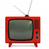 foto of trapezoid  - A high resolution Stock photo of a Retro plastic television - JPG