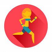 running sports girl icon