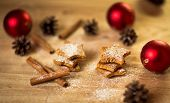 Christmas homemade gingerbread cookiesspice