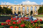 Aqueduct at Istanbul Turkey - architecture background