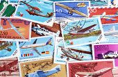Airplanes on postage stamps