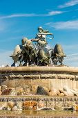 foto of fountains  - The Gefion fountain is the largest fountain in Copenhagen - JPG