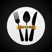 restaurant design catering icon