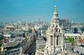 London rooftop view panorama with urban architectures.