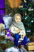 The Girl Near A Christmas Fir-tree 21