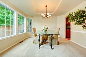 Luxury Dining Room With French Window