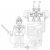 Funny Maze Game: Prince Looking Castle