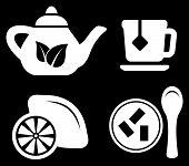 set white tea objects