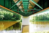 Bridge Over Nemunas River In Druskininkai Spa City