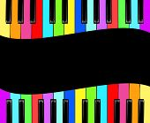 image of rainbow piano  - piano isolated for play - JPG