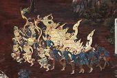 Traditionellen Thai-Stil-Malerei-Kunst