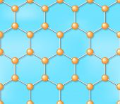 Molecule Seamless Vector Background, Pattern