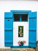 Blue Window In Sirince