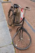 Brocken Bicycle In Amsterdam