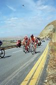 Lead group of cyclists