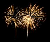 pic of firework display  - Colourful Fireworks display for New Year Celebration - JPG